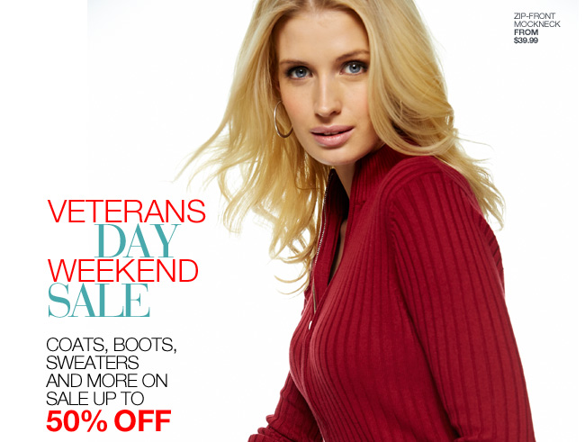 Last Day! Veterans Day Weekend Sale, Up to 50% off