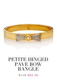 Petite Hinged Pave Bow Bangle