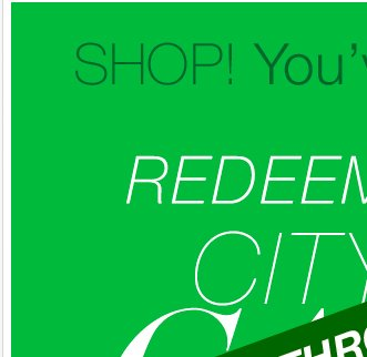 Extra day to redeem your City Cash!