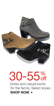 30-55% off Dress and casual boots for the family. Select styles. Shop now