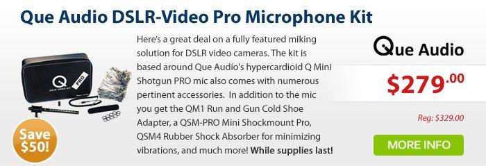 Adorama - Que Audio DSLR-Video Pro Microphone Kit