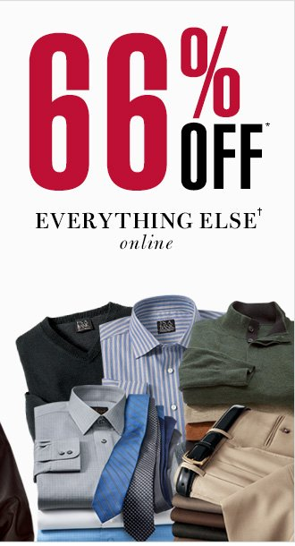 66% Off* - Everything Else† online