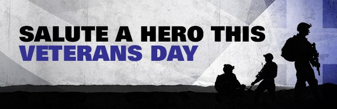 SALUTE A HERO THIS VETERANS DAY
