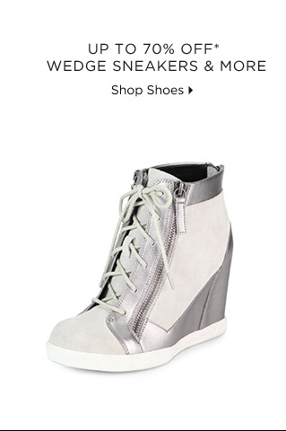 Up To 70% Off* Wedge Sneakers & More
