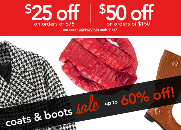 Shop Coats & Boots Sale