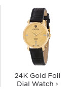 24K Gold Foil Dial Watch