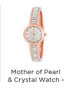 Mother of Pearl & Crystal Watch