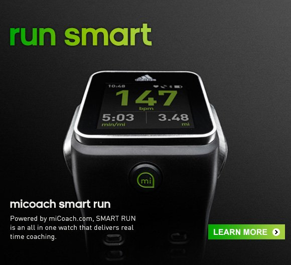 Learn More about the micoach Smart Run Watch  »