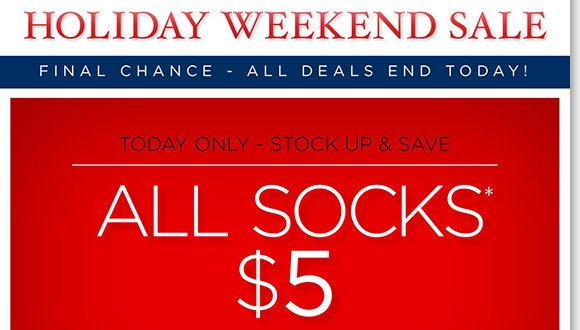 Stock up and save up to $14.95 on premium comfort socks, just $5 today only!* Plus, FINAL CHANCE for Holiday Weekend Sale! Save on UGG® Australia, Dansko, ABEO, ECCO & more. FREE Polar Fleece Blanket with $150 or more purchase. Find the best selection online and in stores at The Walking Company.