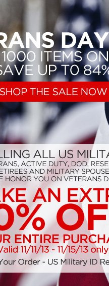 Veteran's day special offer