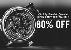 Shop 80% OFF Exposed Movement Watches