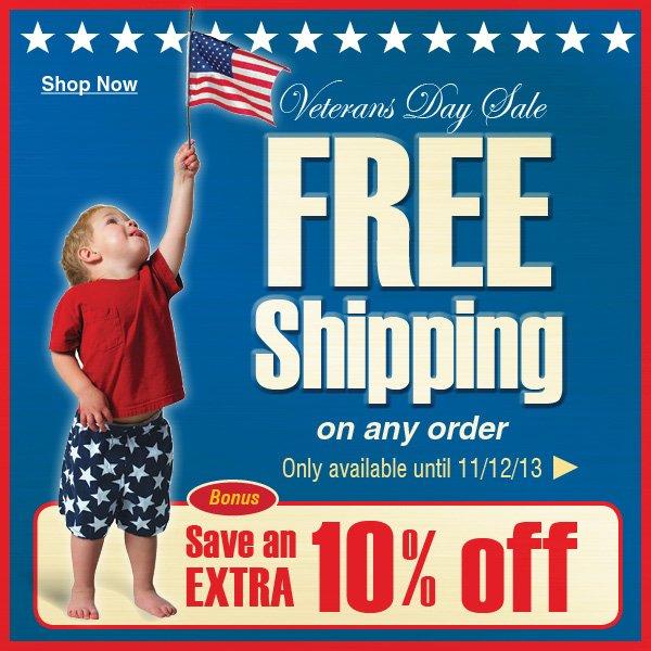 FREE Shipping plus Bonus Extra 10% off