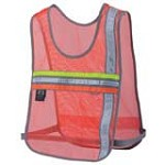 Nathan 2001NO Tri-Color Cross Trainer Reflective Orange Safety Vest