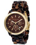 Michael Kors MK5216 Women's Tortoiseshell Band Chronograph Watch