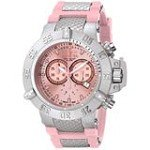 Invicta 1383 Men's Subaqua Noma III Pink Dial Chronograph Pink Rubber Strap Dive Watch