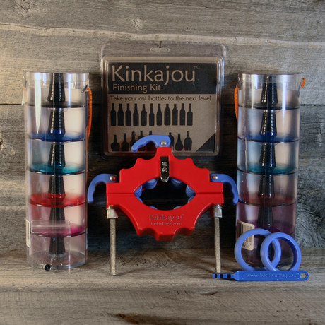 Cherry Red Kinkajou Bottle Cutter Bottle Cutting Kit