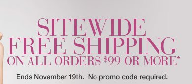 SITEWIDE FREE SHIPPING