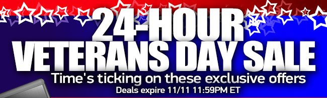 Time's ticking on these exclusive offers. Deals expire 11/11 11:59PM ET