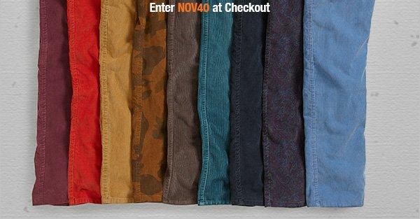 Enter NOV40 at checkout