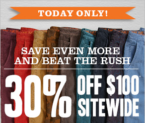 Today Only! 40% off $100* Sitewide