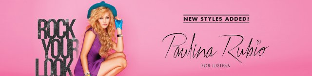 New Styles Added! Paulina Rubio For JustFab