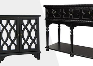 Dramatic in Black: Furniture