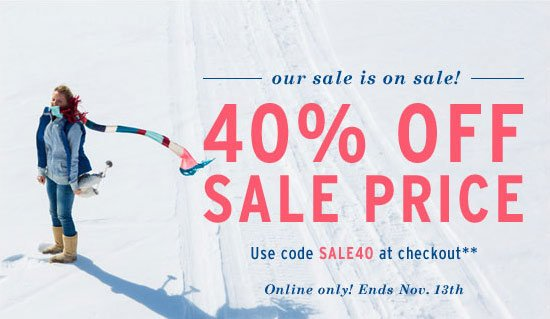 40% off sale price - Use code SALE40 at checkout**
