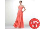 One-Shoulder Jeweled Evening Gown