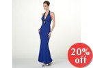 Halter-Neck Beaded Sheath Evening Gown