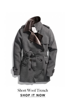 short wool trench