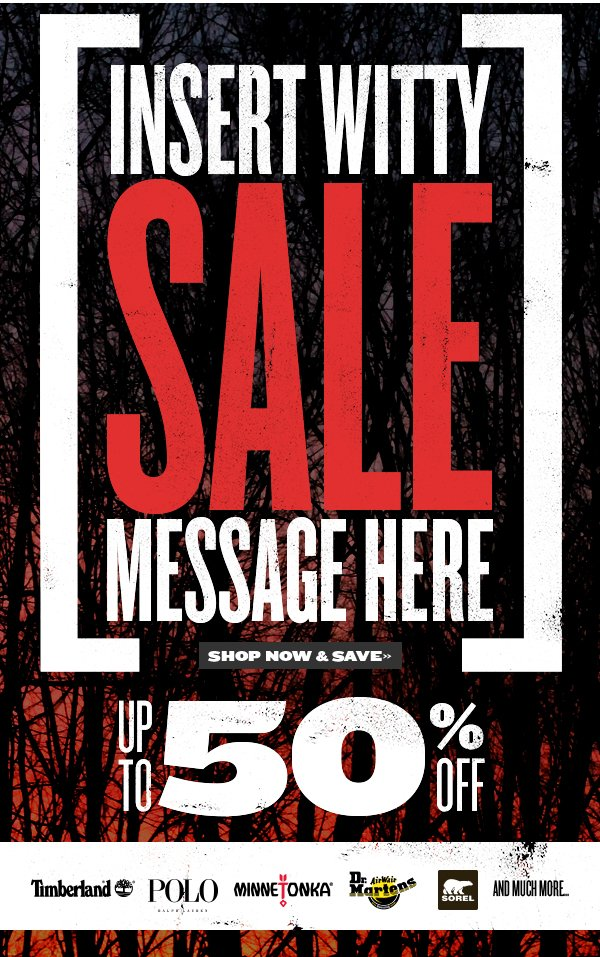 Save 30-50% today on select styles!