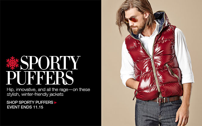 Shop Sporty Men's Puffer Jackets