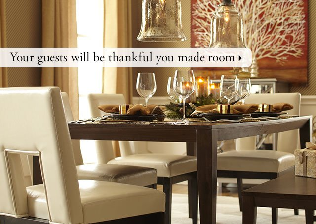 Your guests will be thankful you made room