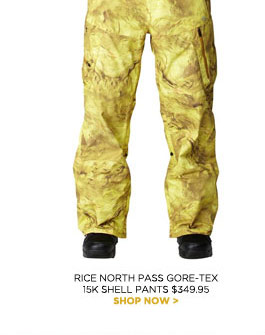 Rice North Pass Gore-Tex 15K Shell Pants $349.95 - Shop now