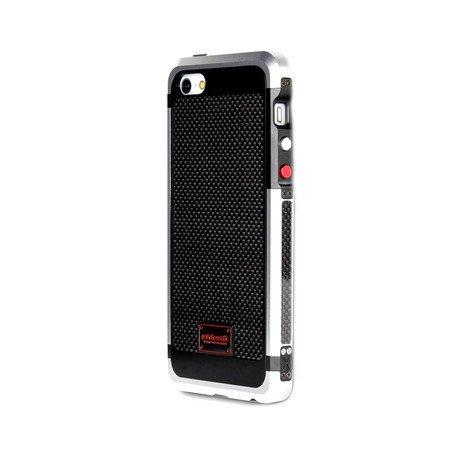 Alloy XXX Carbon Fiber Case for iPhone 5 // Silver