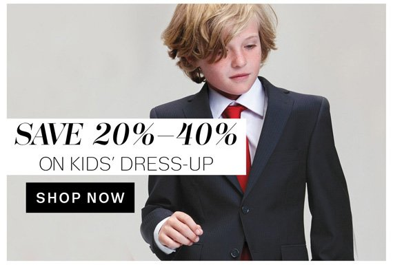 Save 20%-40% on Kids' Dress-Up. Shop now.