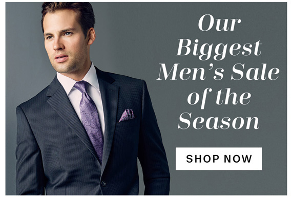 Our Biggest Men's Sale of the Season. Shop Now.