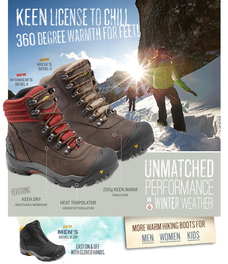 KEEN Revel II - Unmatched Performance in Winter Weather.