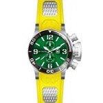 Invicta 80220 Men's Corduba Green Dial Yellow Rubber Strap GMT Dive Watch