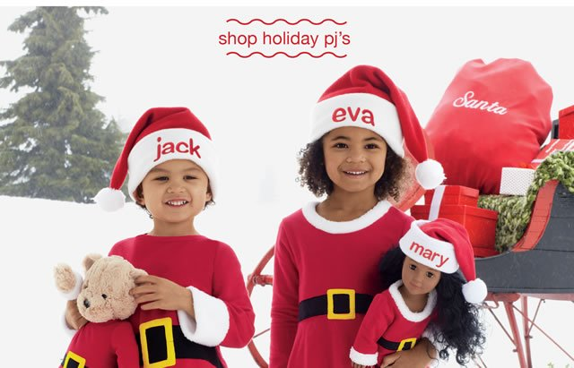 shop holiday pj's