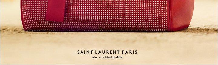 A classic Saint Laurent shape gets the stud treatment: Shop now.