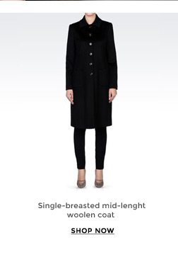Single-breasted mid-lenght woolen coat