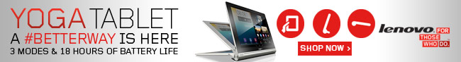 Lenovo - Yoga Tablet. A #Betterway Is Here.