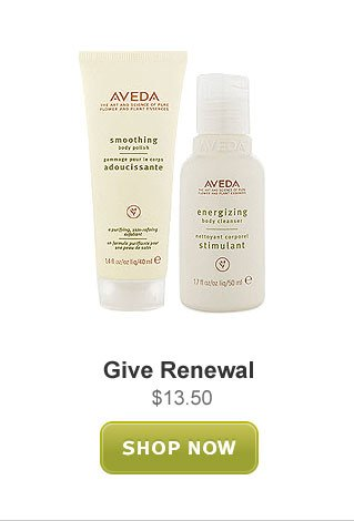 give renewal. shop now.
