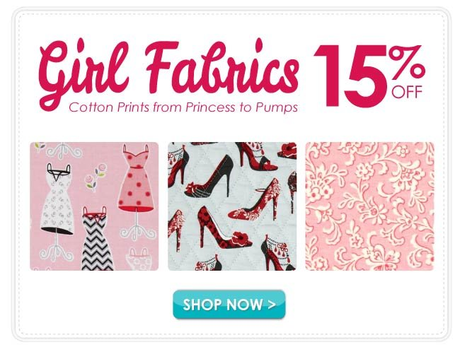 15% off Girls Cotton Prints