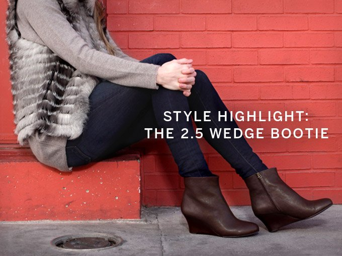 Style Highlight: The 2.5 Wedge Bootie