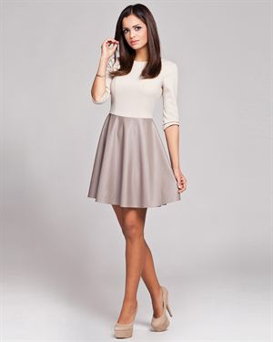 Figl Two-Tone Contrasting Material Dress Made in Europe