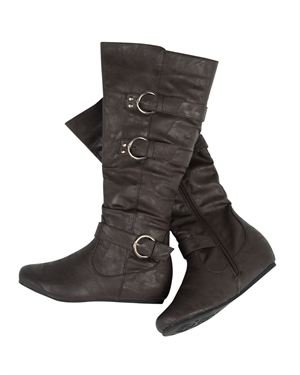 Collection By Carrini Faux Leather Buckle Boots