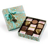 Mini Turquoise Chocolate Box