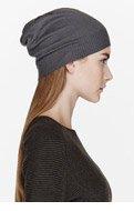 RICK OWENS Grey Lightweight knit beanie for women